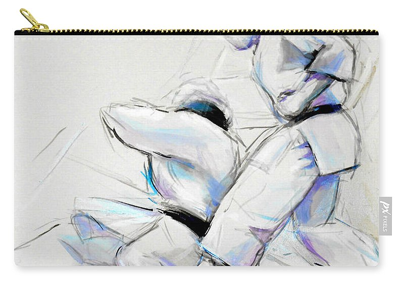 Shita Carry-all Pouch featuring the painting Shita by Lucia Hoogervorst