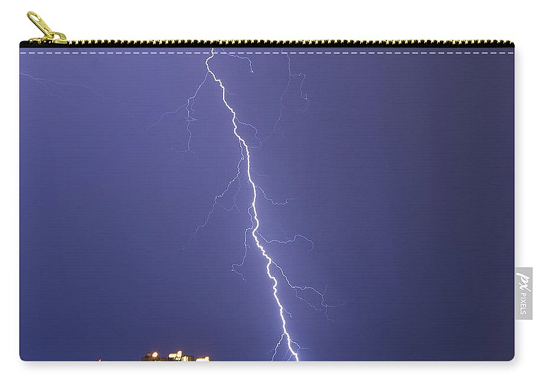 Bolt Carry-all Pouch featuring the photograph Shocking Sand Key by Stephen Whalen