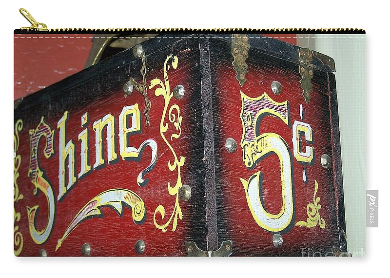 Antiques Carry-all Pouch featuring the photograph Shoe Shine Kit by Pamela Walrath