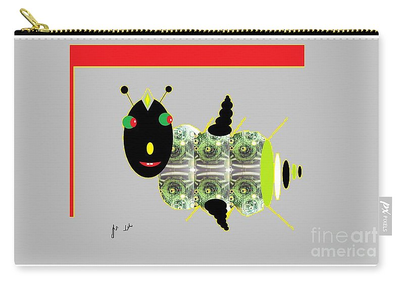 Fly Carry-all Pouch featuring the digital art Shoofly by Ann Calvo