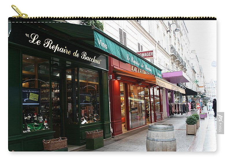 Paris Carry-all Pouch featuring the photograph Shops On Rue Cler by Sue Lorenz