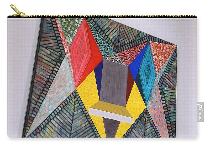 Spirituality Carry-all Pouch featuring the painting Shot Shift - Parmi 1 by Michael Bellon