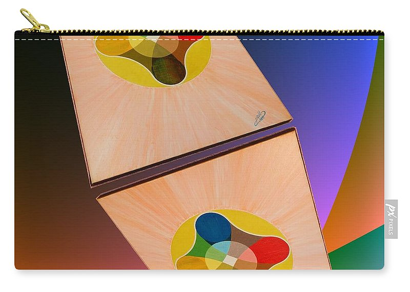 Shots Carry-all Pouch featuring the painting Shots Shifted - Le Soleil 2 by Michael Bellon
