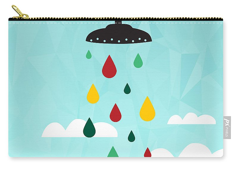 Contemporary Carry-all Pouch featuring the painting Shower by Mark Ashkenazi