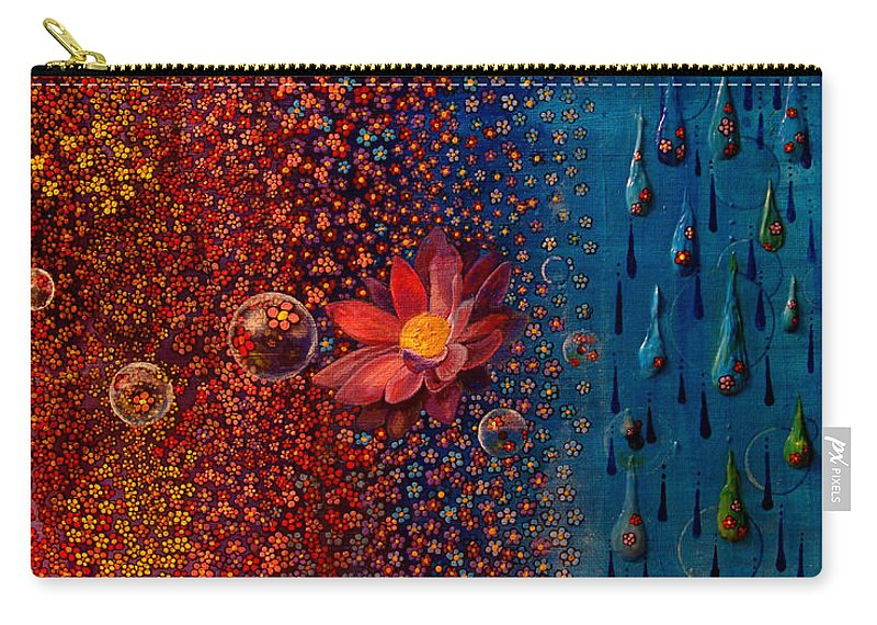 Rain Carry-all Pouch featuring the painting Showers To Flowers by Mindy Huntress