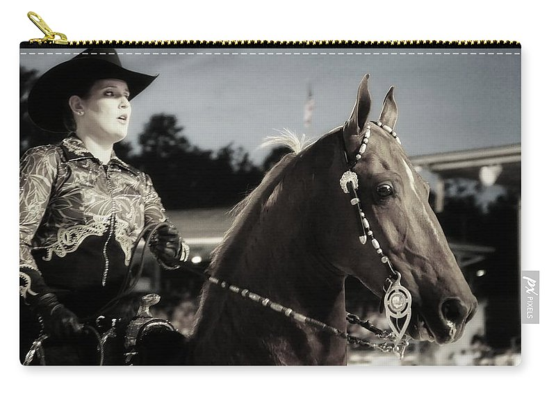 Woman Carry-all Pouch featuring the photograph Showhorse by Alice Gipson