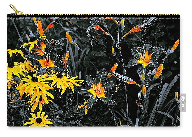 Chicago Botanical Gardens Carry-all Pouch featuring the photograph Showoff Competition by Tim G Ross
