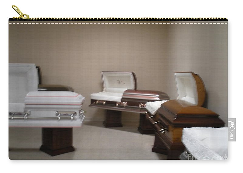 Casket Carry-all Pouch featuring the photograph Showroom by Joseph Baril