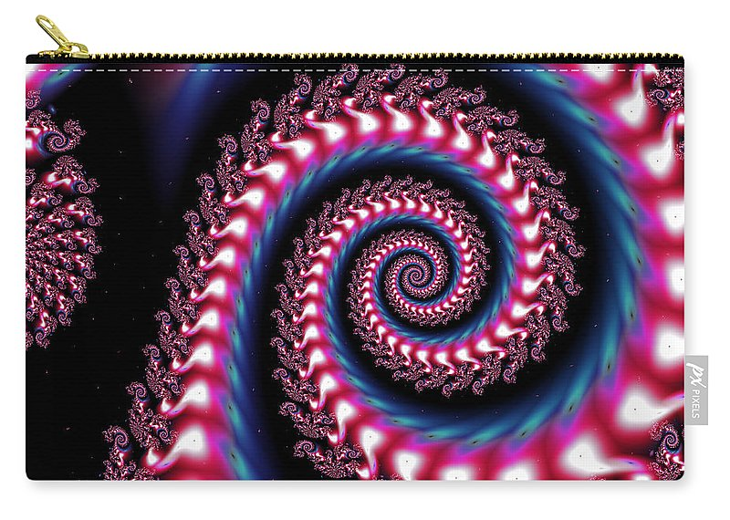Art Carry-all Pouch featuring the digital art Showstopper by Candice Danielle Hughes