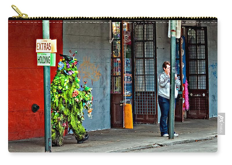 French Quarter Carry-all Pouch featuring the photograph Shrubman On The Move by Steve Harrington