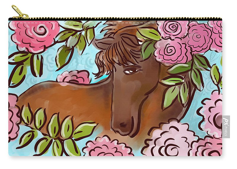 Landscape Carry-all Pouch featuring the digital art Shy Winner by Elaine Jackson