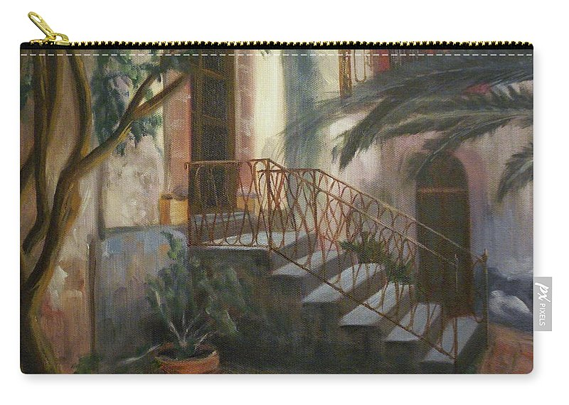 Sicily Carry-all Pouch featuring the painting Sicilian Nunnery by Donna Tuten
