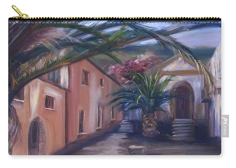 Sicily Carry-all Pouch featuring the painting Sicilian Nunnery II by Donna Tuten