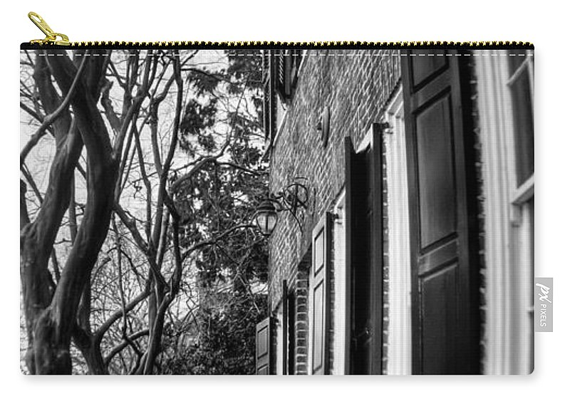 South Carry-all Pouch featuring the photograph Sidewalk Scene-charleston by Andrew Crispi