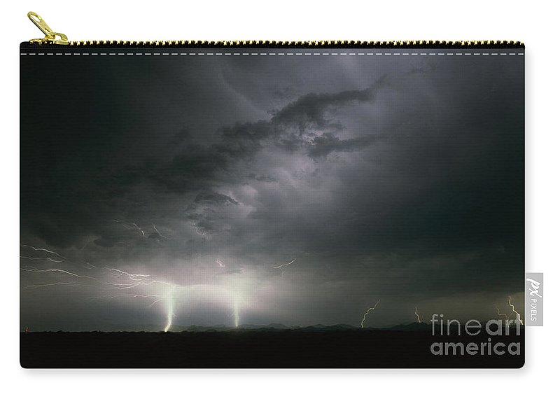 Lightning Carry-all Pouch featuring the photograph Sierra Blanca  Texas Two by J L Woody Wooden