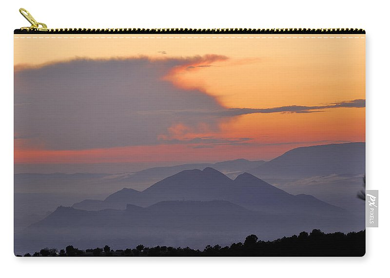 Sunset Carry-all Pouch featuring the photograph Sierra Elvira Mountains At Sunset by Guido Montanes Castillo