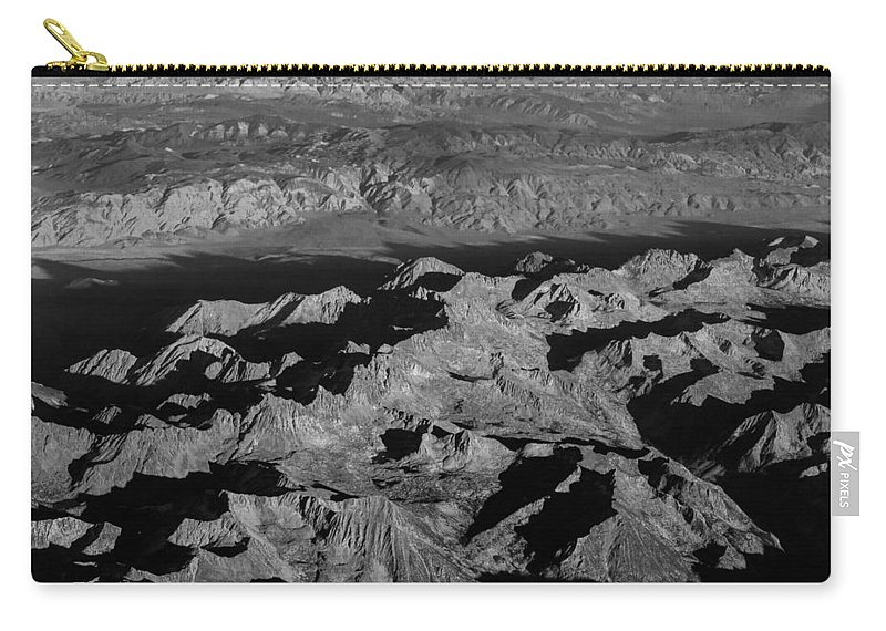 Black Carry-all Pouch featuring the photograph Sierra Nevada Shadows by John Daly