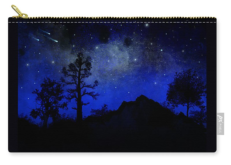 Sierra Silhouette Carry-all Pouch featuring the painting Sierra Silhouette Wall Mural by Frank Wilson