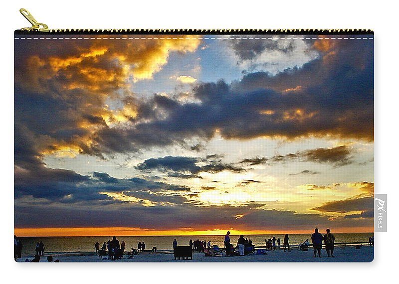 Sunset Carry-all Pouch featuring the photograph Siesta Sunset by Norman Johnson