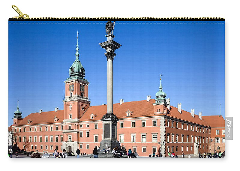 Architecture Carry-all Pouch featuring the photograph Sigismund's Column And Royal Castle In Warsaw by Artur Bogacki