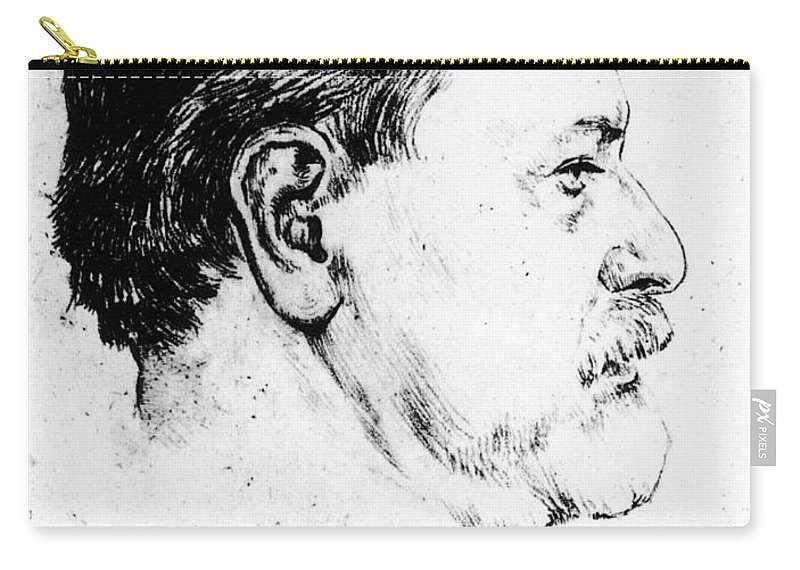 1914 Carry-all Pouch featuring the photograph Sigmund Freud (1856-1939) by Granger