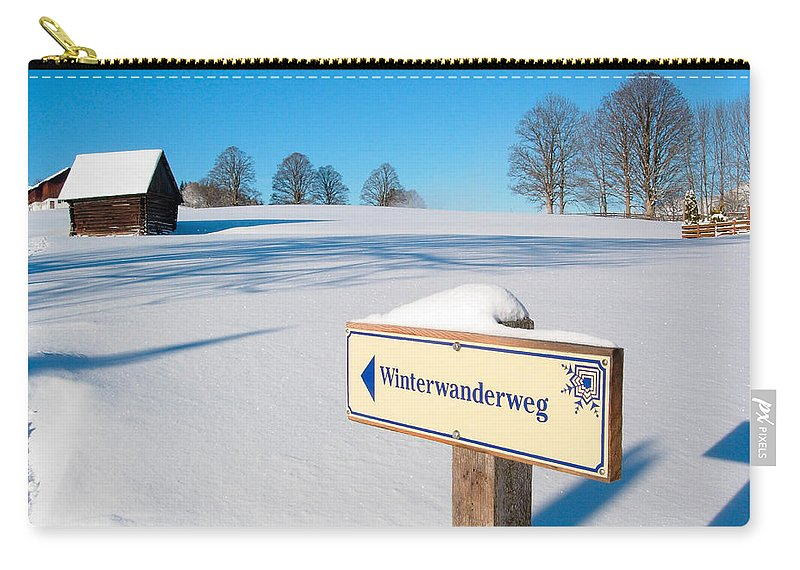 Austria Carry-all Pouch featuring the photograph Signpost by Mark Llewellyn