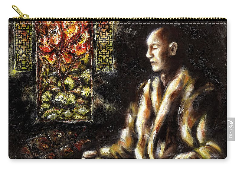Zen Carry-all Pouch featuring the painting Silence by Hiroko Sakai