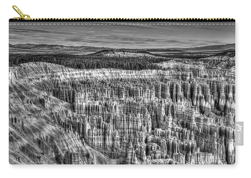 Silent City Carry-all Pouch featuring the photograph Silent City by George Buxbaum