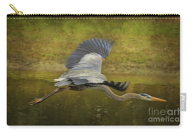 Heron Carry-all Pouch featuring the photograph Silent Grace by Deborah Benoit