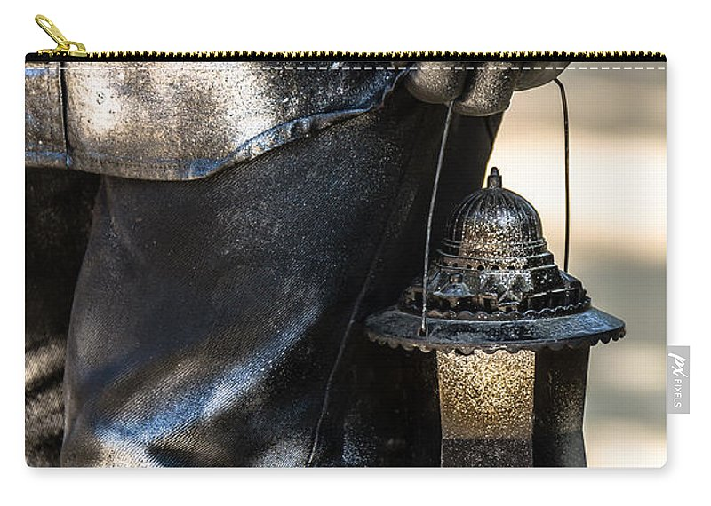Silent Man Carry-all Pouch featuring the photograph Silent Man II by Sotiris Filippou