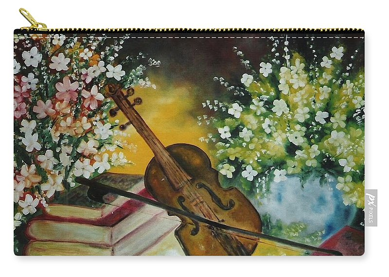 Violin Carry-all Pouch featuring the painting Silent Voices by Lord Frederick Lyle Morris - Disabled Veteran