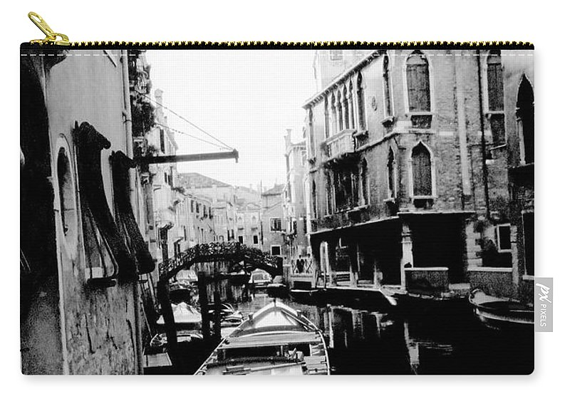 Venice Carry-all Pouch featuring the photograph Silenzio Venice Italy by Heike Hellmann-Brown