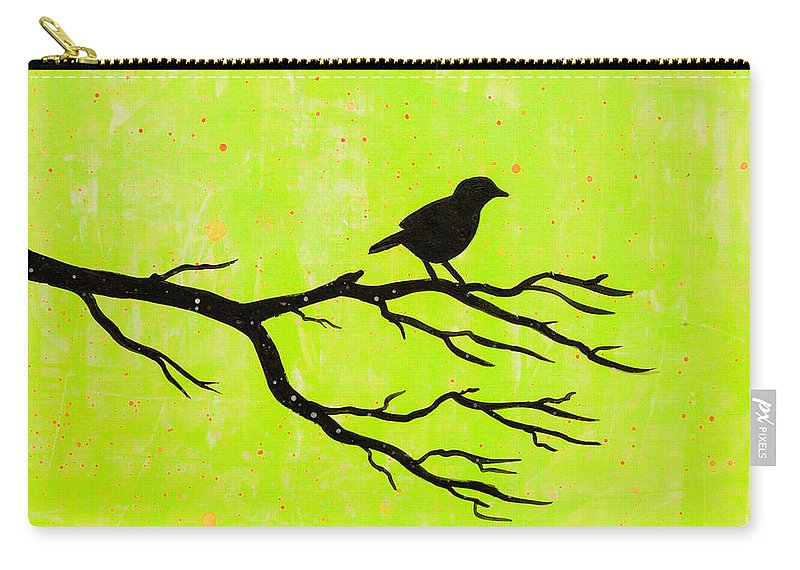 Carry-all Pouch featuring the painting Silhouette Green by Stefanie Forck