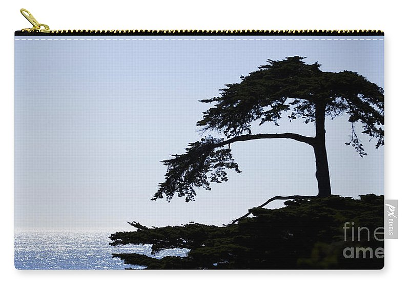 Central Carry-all Pouch featuring the photograph Silhouette Of Monterey Cypress Tree by B Christopher