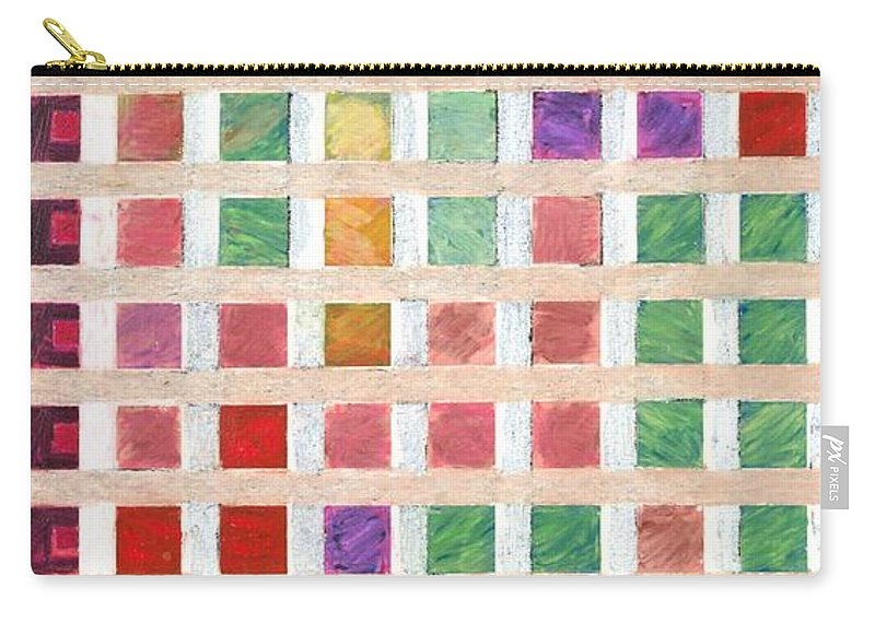 Landscape Carry-all Pouch featuring the painting Silicon Valley by Allan P Friedlander