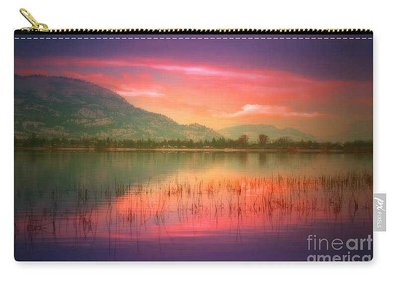 Okanagan Carry-all Pouch featuring the photograph Silky Skies by Tara Turner