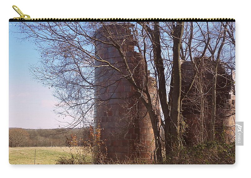 Joseph Skompski Carry-all Pouch featuring the photograph Silos by Joseph Skompski