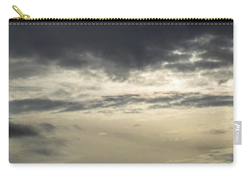Silver Sky Silver Skyscape Gray Skyscape Gray Clouds Silver Clouds Atmosphere Art Grey Skies Silver Cloudscape Stormy Sky November Sky Northeast Us Weather Grayscape Bad Weather Autumn Weatherscape Carry-all Pouch featuring the photograph Silver Sky by Joshua Bales