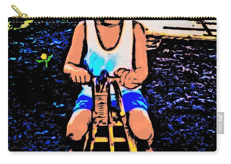 Riding A Horse Carry-all Pouch featuring the painting Simple Joy by Withintensity Touch