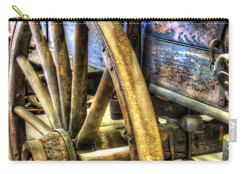 Wagon Carry-all Pouch featuring the photograph Simpler Times by Bianca Nadeau