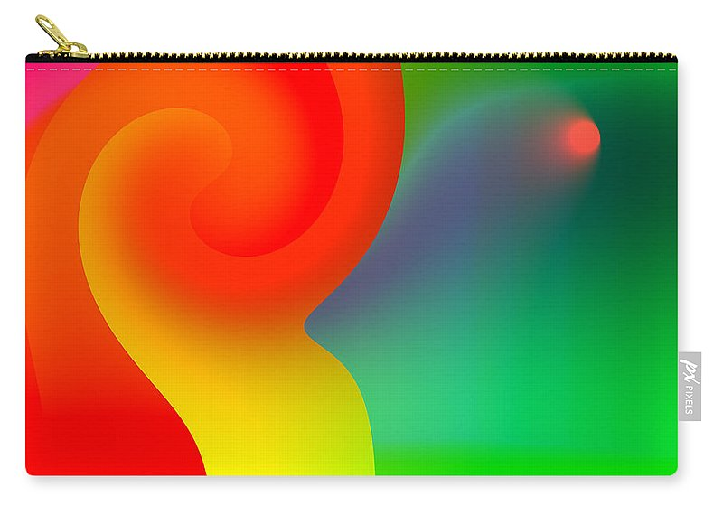 Simple Carry-all Pouch featuring the digital art Simplicity Itself by Hakon Soreide