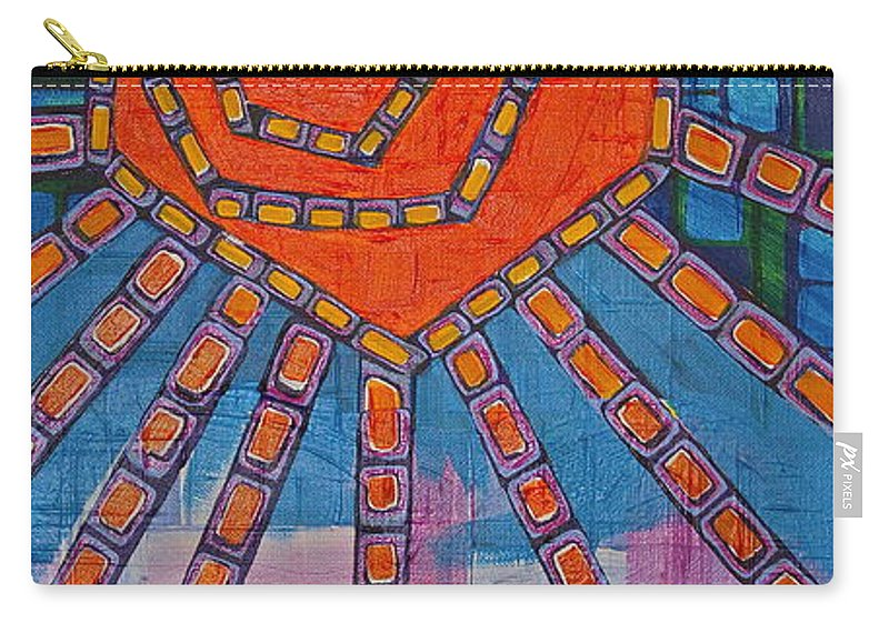 Sun Carry-all Pouch featuring the painting Simply A Sunset I've Never Seen by Donna Howard