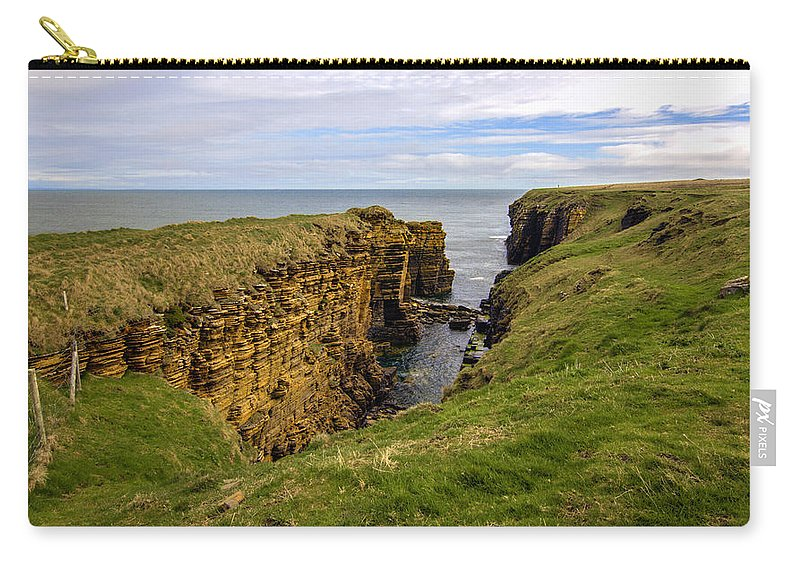 Sinclair Castle Carry-all Pouch featuring the photograph Sinclair Castle Scotland -1 by Paul Cannon