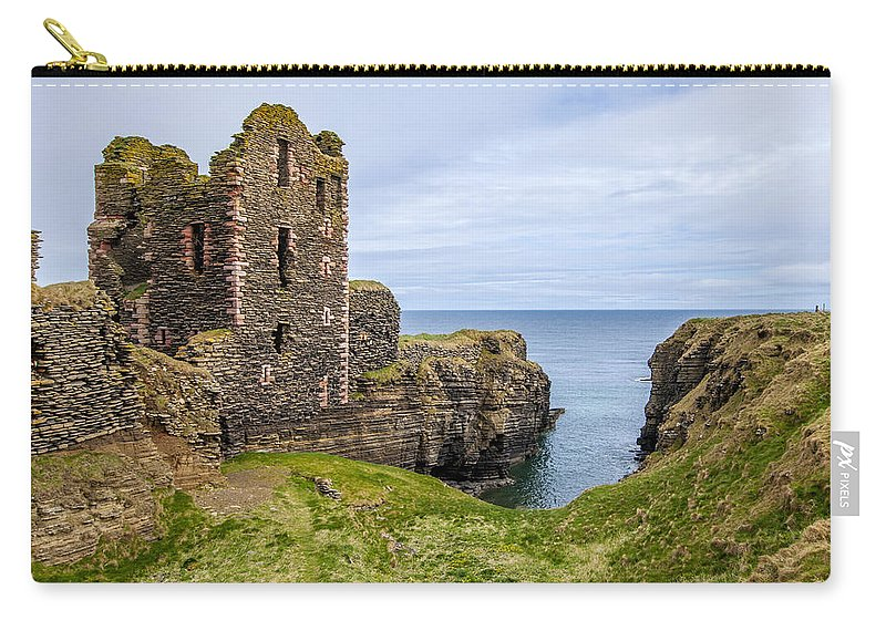 Sinclair Castle Carry-all Pouch featuring the photograph Sinclair Castle Scotland - 4 by Paul Cannon