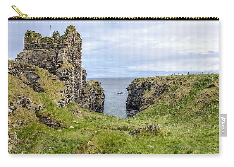 Sinclair Castle Carry-all Pouch featuring the photograph Sinclair Castle Scotland - 5 by Paul Cannon