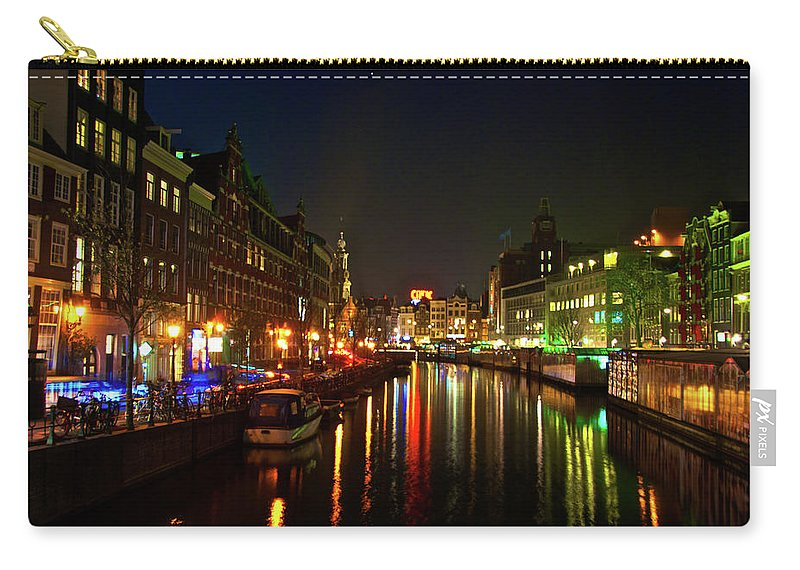 Amsterdam Carry-all Pouch featuring the photograph Singel Subdued by Jonah Anderson