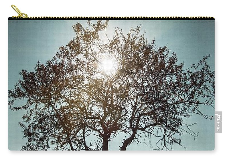 Dark Carry-all Pouch featuring the photograph Single Tree by Carlos Caetano