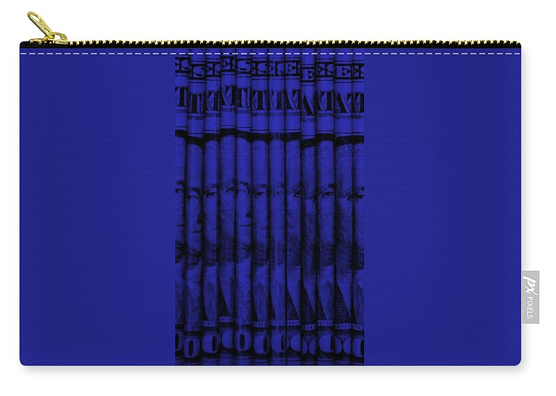 Money Carry-all Pouch featuring the photograph Singles In Blue by Rob Hans