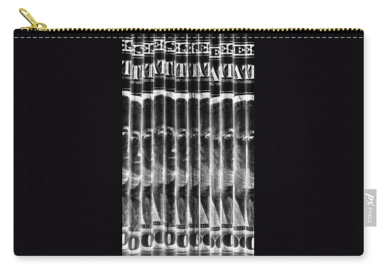 Money Carry-all Pouch featuring the photograph Singles In Negative Black by Rob Hans