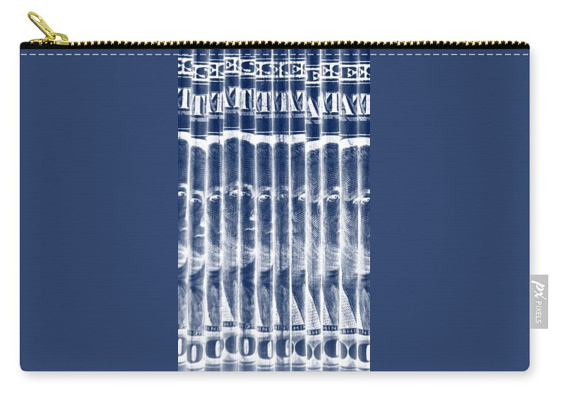 Money Carry-all Pouch featuring the photograph Singles In Negative Blue by Rob Hans